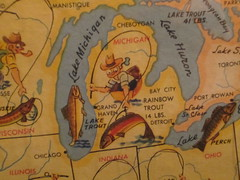 Funny map in the Hopleaf (sophiesunset) Tags: travel family chicago uptown rainy cocktails 2012 openhousechicago