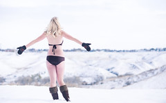 Caroline (SnarePhoto) Tags: winter snow cold girl outdoors photography photo model nikon freezing class suit bikini bathing embrace lethbridge snare d600 uleth snarephoto