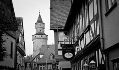 The Witches Tower in Black & White - Idstein, Germany (ChrisGoldNY) Tags: travel blackandwhite bw signs architecture buildings germany deutschland europa europe european forsale towers eu villages historic viajes german posters albumcover alemania historical bookcover towns vacations bookcovers albumcovers deutsche gridskipper idstein witchstower deutscheland jaunted chrisgoldny chrisgoldberg chrisgold chrisgoldphoto chrisgoldphotos