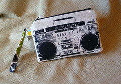 Black on White Boombox (made by mauk) Tags: