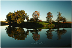 (tozofoto) Tags: travel autumn trees light shadow lake holiday reflection travelling water colors canon landscape october europe hungary zala contry supershot abigfave flickrdiamond tozofoto