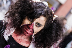 Zombie Day Toulouse (petetheat) Tags: portrait halloween girl flesh canon eos march costume blood artist cosplay zombie makeup gore horror toulouse rotten invasion horde zombiewalk 550d
