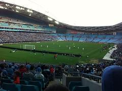Sydney FC (Simon_sees) Tags: family vacation holiday sport football stadium soccer sydney fans syd sydneyolympicpark sydneyfc perthglory