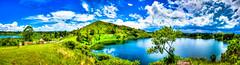 A crater lake in western Uganda