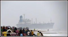 "2569 - Oil tanker at Elliots Beach - ""Explored"" (chandrasekaran a 546k + views .Thanks to visits) Tags: travel india storm beach water rain ship chennai cyclone besantnagar oiltanker elliotsbeach nilam blinkagain powershotsx40"
