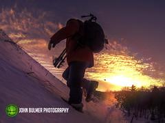 Racing the Sun : 01.05.2013 (john bulmer) Tags: statepark sunlight selfportrait snow photographer tripod grafton johnbulmer 518weather