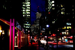 Morning (Gnial N) Tags: street urban toronto ontario canada night streetlight pentax citylights nightlight pentaxk01