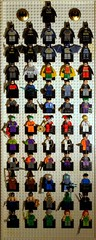 The complete Lego Batman Minifigure collection (A Civilian) Tags: dc comic lego super collection batman heroes 56 complete sdcc minifigures univerese