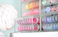 Seed bead & sequin storage (toriejayne) Tags: beads storage sequins drawers organized organize pantone craftroom markerpens