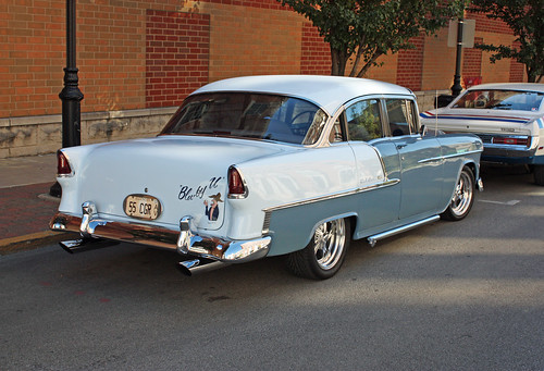 Fins of the 1955 Chevrolet 210 4 Door Sedans