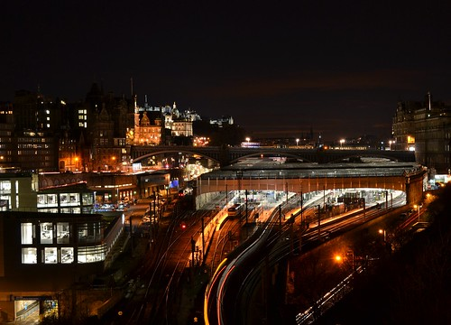 waverly station at night