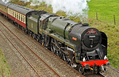 britannia (midcheshireman) Tags: train cheshire steam chester locomotive britannia 70000 cathedralsexpress