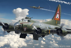 B-17G Flying Fortress of the 303rd BG, by Ron Cole (ColesAircraft) Tags: wwii b17 ww2 boeing airforce bomber flyingfortress bombing b17g roncole 8thaf colesaircraft