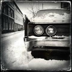 Vah Vah Vah VRRRRoom (LiesBaas) Tags: street snow hot ice garbage sneeuw denhaag headlights bumper hotrod oldtimer chrysler thehague ijs iphone straat vuilnis koplampen vuilnisbakken