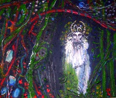 Inside Outside (hookykate) Tags: green love painting beard artwork poetry paintings goat tragedy woe greenman wildthing poetryandpicturesinternational