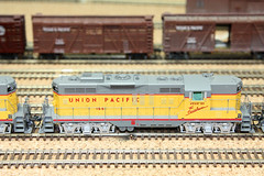Union Pacific Wyoming Division (twm1340) Tags: railroad arizona scale up electric train layout model gm track pacific diesel union tracks engine railway az electro locomotive motive wyoming ho division generalmotors 166 verdevalley emd gp9 2013 cornville