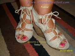 Cloth Shoes with Pretty Feet (Kattz Foot Model) Tags: feet socks foot shoe sock shoes worship toes highheels arch photos sweet sandals bare domination polish arches heels wrinkles soles videos poses toenails trampling beautifulfeet stinkyfeet footworship sweetfeet longtoenails prettyfeet sexyfeet sexysandals thongsandals sexysoles wrinkledsoles footworshipping meatyfeet meatysoles