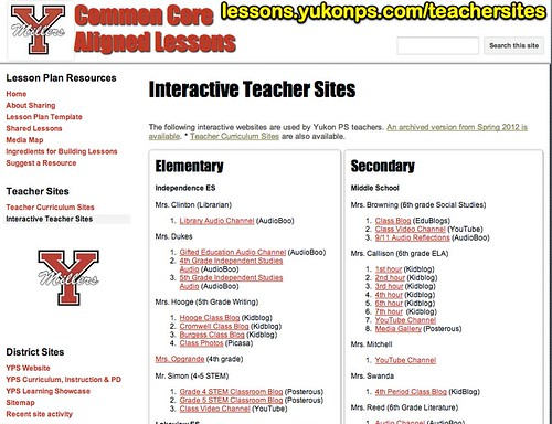 Interactive Teacher Sites - Common Core by Wesley Fryer, on Flickr