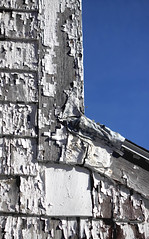 This paint is a peeling! 5/52/13 (Hodgey) Tags: building peeling paint shingles nail angles bluesky 52wtfnd