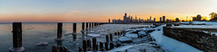 Ice and snow at Fullerton Ave Beach (olsonj) Tags: city chicago skyline nikon lakemichigan fullerton chicagoist fullertonavebeach