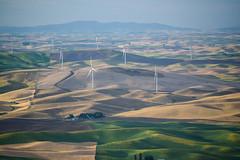 The science minimizes the paint. (TheRealMichaelMoore) Tags: 2016 colfax palouse steptoe steptoebutte washington farm fields hills landscape wheat windmills unitedstates