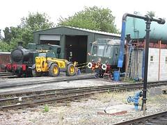 Jennifer & Class 117 DMU DMBS 51342 at North Weald depot, EOR Epping Ongar Railway 09.07.16 (Trevor Bruford) Tags: eor epping ongar heritage railway north weald br train dmu diesel multiple unit class 117 pressed steel dmbs 51342