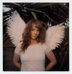 Angel Rachael (tobysx70) Tags: the impossible project tip polaroid slr680 frankenroid sx70 door rollers color film for 600 type cameras generation 3 gen3 0416 pioneer member test impossaroid angel rachael fullerton orange county california ca portrait woman wings long hair vacachael polawalk 080416 toby hancock photography