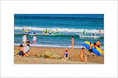 An Impression - A Beach of Preoccupied People. (Mikec77) Tags: beachscene arty bidart photoborder