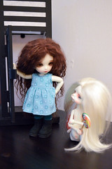 Maddy and Kilbey (ladymadrigal80) Tags: pukifee pukifeemio mio fairyland larry dollchateau dollchateaularry bjd