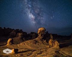 Milky Way above Goblin Valley (jkuphotos) Tags: desert goblinvalley jamesudall landscape longexposure milkyway night nightsky redrock rocks sky southernutah stars utah