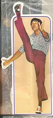 Bruce! (912greens) Tags: brucelee kicking karate celebrity 1970s stickers ephemera collections found