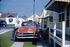 1950s Car Club Langhorne PA (rich701) Tags: vintage 35mm color 1950s langhorne pa pennsylvania carclub automobileclub 1954mercury bthriftyfoods texaco youcantrustyourcar
