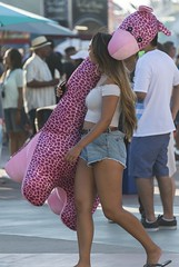 Winner (shottwokill) Tags: california fair ocfair orangecounty winner woman giraffe pink pinkgiraffe young games nikon d800 28300 nikkor snapshot fun shorts tanktop summer