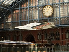 Clock (My photos live here) Tags: london england capital city st pancras international station eurostar train rail railway terminus camden urban i phone 5s