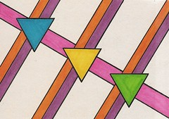 Triangles (ElDel777) Tags: art drawing sharpies triangle geometric triangles lines abstract abstractart doodle doodleart