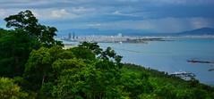 Da Nang, Vietnam (free3yourmind) Tags: danang vietnam city cityscape sea river blue water clouds cloudy day hill green trees