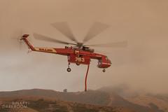 Sikorsky Sky Crane - Siller 783 - Soberanes Fire, CA (Liembo) Tags: sikorsky helicopter soberanes wildfire bigsur california