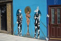 Zabou and Pegasus street art in Islington (Matt From London) Tags: zabou streetart osiris horus egyptian blue islington pegasus rihanna