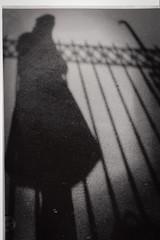 Shadow self portrait (Tam Bernard) Tags: mamiya nc1000s 35mm darkroom ilford kodak 100tmax tmax100 tmax blackandwhite selfportrait selfie portrait jessops home developing 50mm 17 push pushed 400 birmingham moseley brum shadows film vintage diy retro mono bw chemicals grain raw mamiyasekor processing oldschool 100pushedto400 noir mysterious lurking