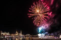 Firework (Walther Wer) Tags: firework feuerwerk dresden festival night stadtfest elbe silhouette