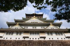 Au pied du chateau (StephanExposE) Tags: chateau castle osaka japon japan asia asie stephanexpose kansai ville city arbre tree ciel sky canon 600d 1635mm 1635mmf28liiusm