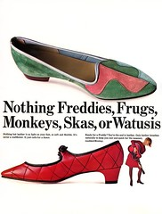 Genuine Leather Shoes (jerkingchicken) Tags: vintageshoes 1960sshoes sixties lowheel dance