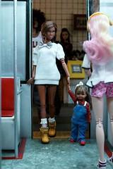 Plasticwood Metro Subway- All Aboard (Real Dolls of Plastic Wood) Tags: dolls barbie kelly sis black homme train subway urban diorama fashionroyalty