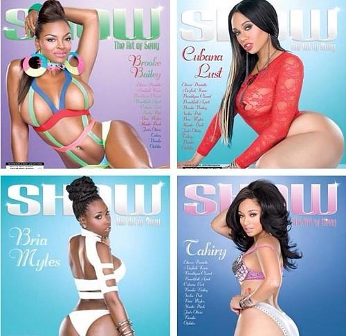 show 23 Magazine cover Tahiry Brooke Bailey Cubana Lust Bria Myles