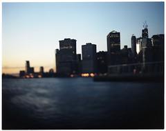 river, skyline 2 (aleczab) Tags: skyline kodak manhattan 160vc portra graflex speedgraphic pacemaker aeroektar