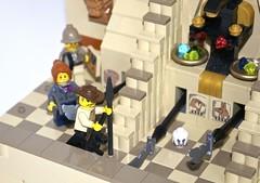 A Close Shave, Hall of Anubis, Pharaoh's Labyrinth (Gary^The^Procrastinator) Tags: motion hall 1930s treasure lego egypt modular mummy labyrinth motorized anubis adventurers pharaohs johnnythunder brickfair