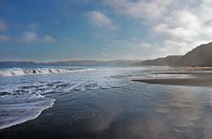 Drakes Beach, Point Reyes (skipmoore) Tags: california reflection fog sand marincounty pointreyes drakesbeach drakesbay