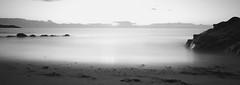 slow water at dawn (Wendy:) Tags: sea beach monochrome horizon wideangle filter le whiterock hitech slowwater ndgrad