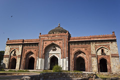 Mosque by Sher Shah (AnkurDauneria) Tags: travel india art tourism monument architecture canon landscape eos persian worship asia god fort muslim pray entrance mosque symmetry historic monarch historical 1855mm hindu remains inscriptions efs prayers masjid emperor allah jami newdelhi asi oldglory subcontinent redstone mughal rajput historicindia puranaqila declining shershah calligraphic archaeologicalsurveyofindia 550d incredibleindia lostempire indraprastha delhisultanate apsc shergarh premughaldesign
