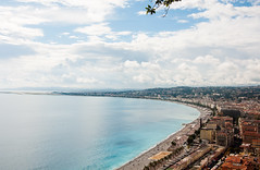 Promenade des Anglais ... (Vikaz) Tags: travel blue autumn sea france beach de coast experiments nice nikon october europe cotedazur g azure promenade mediterraneansea 2012 frenchriviera anglais d90 nikond90 miccai